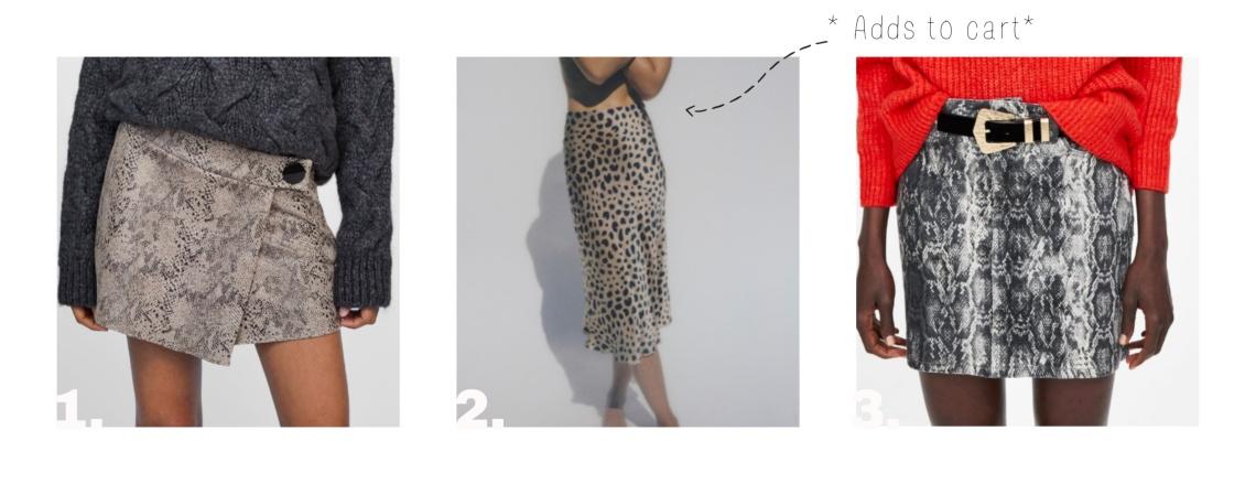 Animal Print Skirts