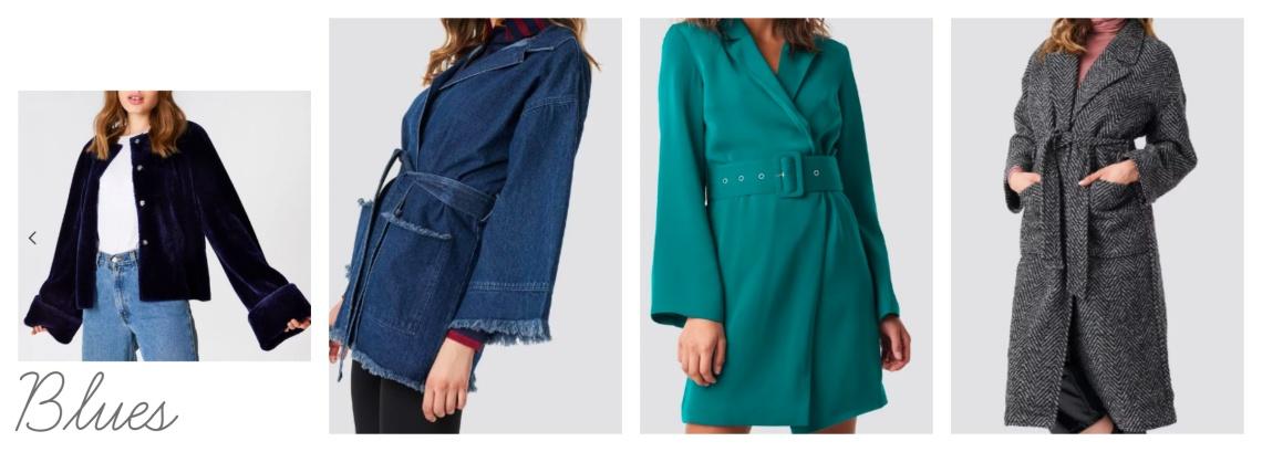 W jackets - blues